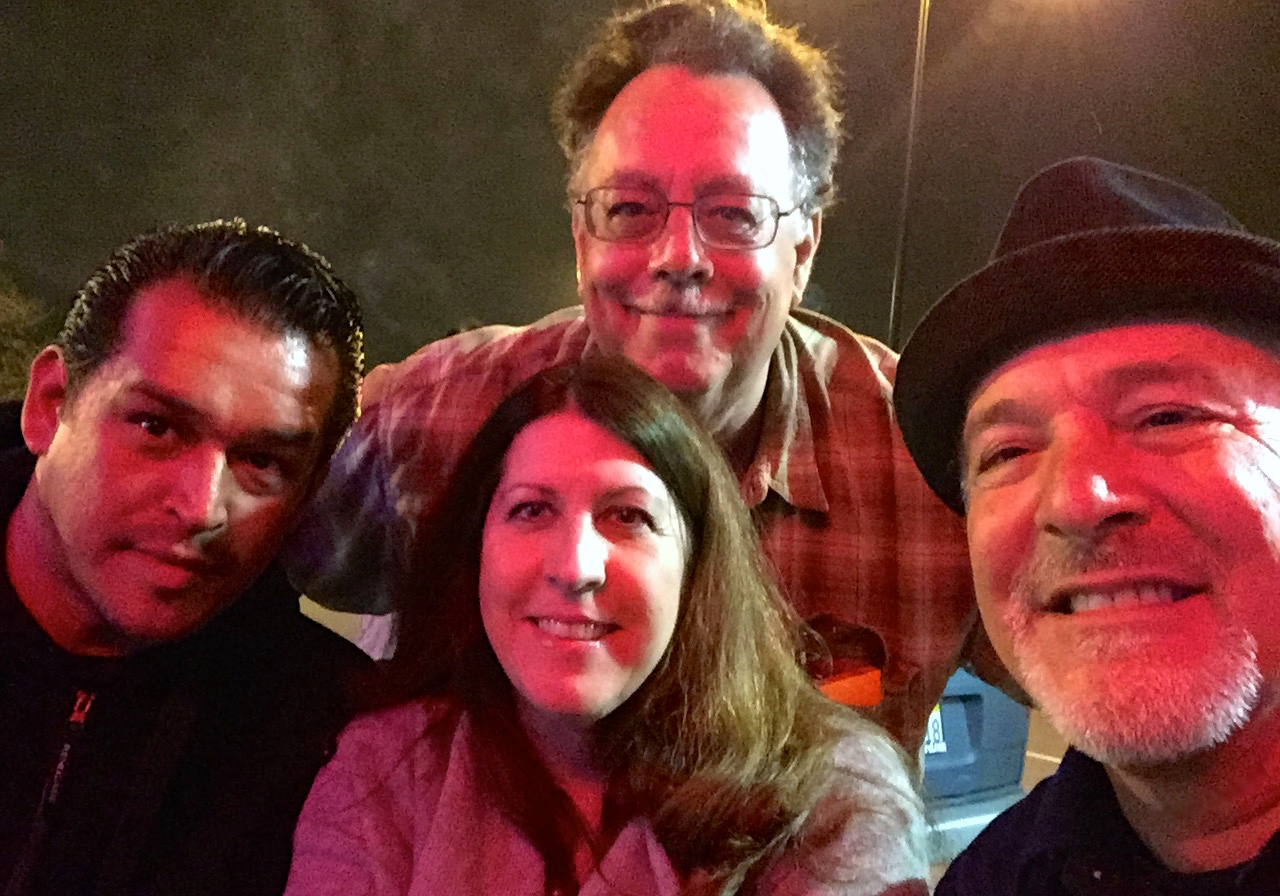 Donnie Green, Tome Edminster & the lovely Julie John's hanging with AJ at Little Lou's.