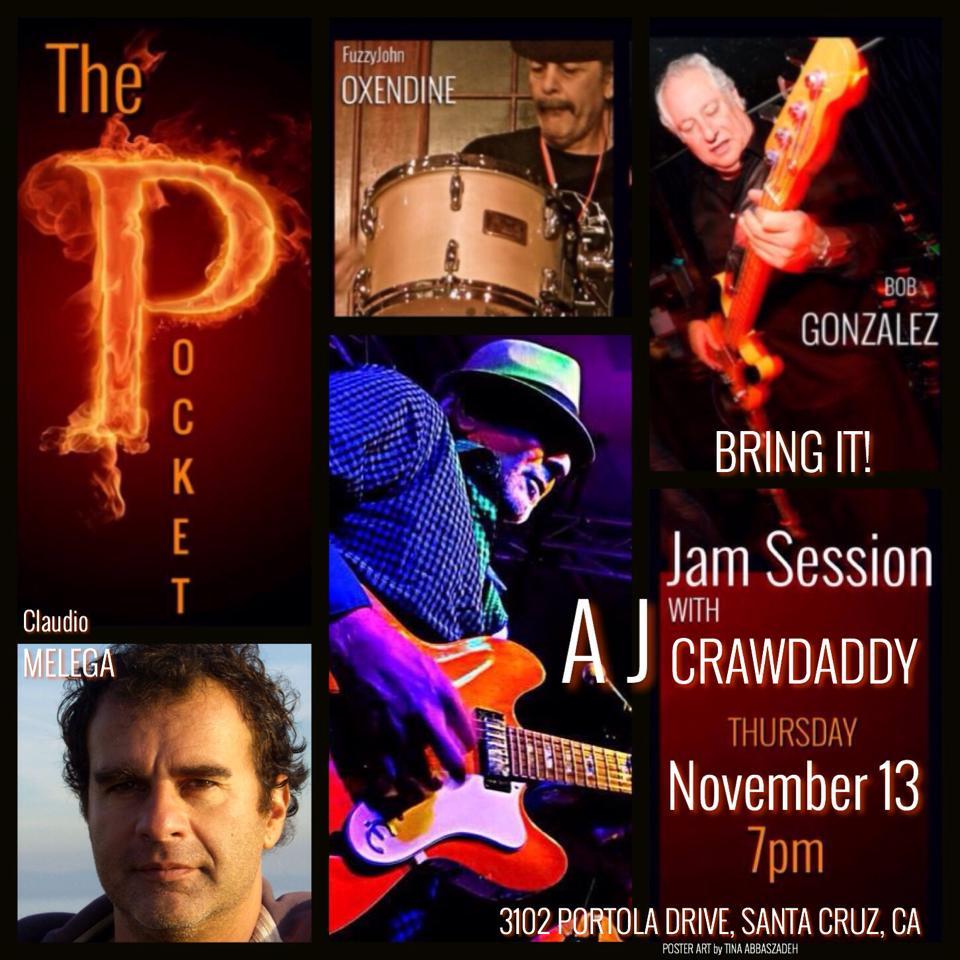 Thursday Night Jam @ The Pocket in Santa Cruz, CA!  BE THERE!